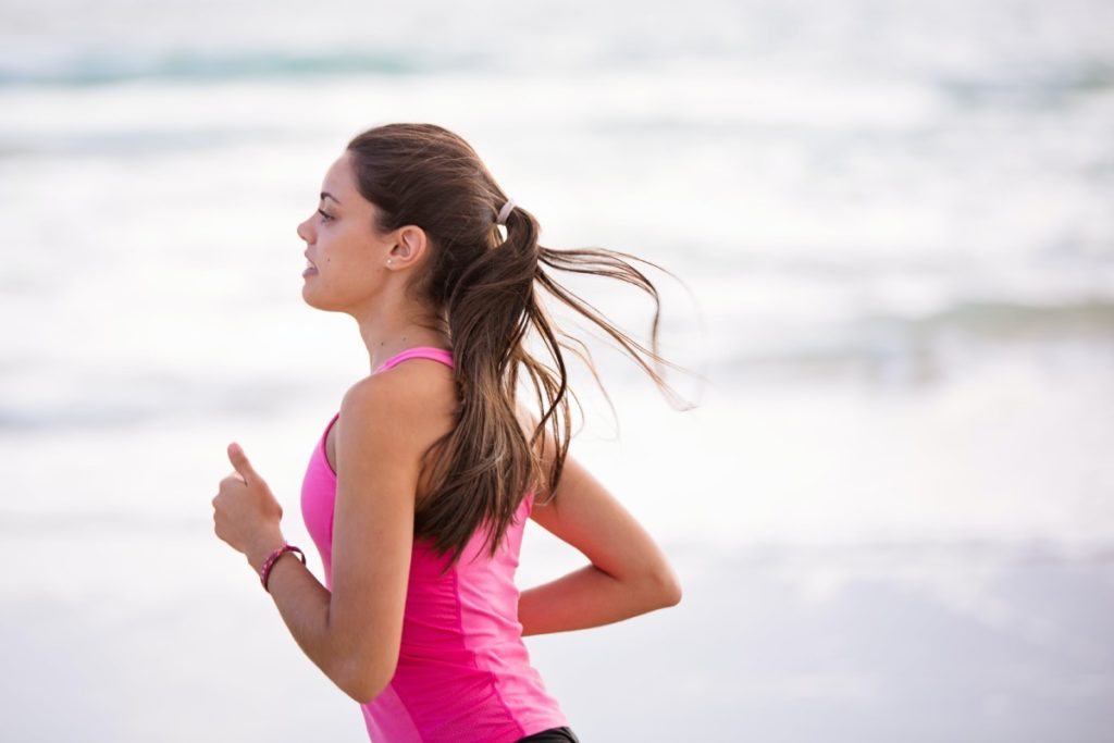 kobieta jogging